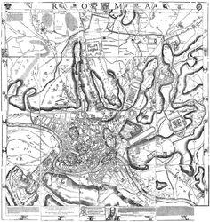 Leonardo Bufalini, Plan de Rome, 1551