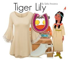 """Tiger Lily"" by sofiaamorena ❤ liked on Polyvore featuring Bling Jewelry, Mishky, Frye, M&F Western and Topshop"