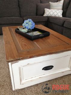diy coffee table with storage free diy plans coffeetable