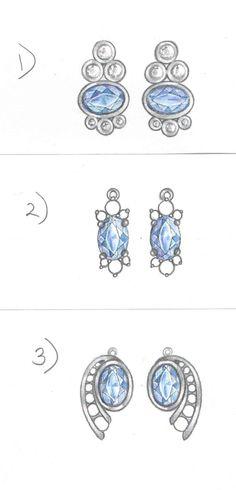 Blue Sapphire and Diamond Earrings 1-3