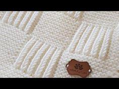 (370) SELANİK BATTANİYE WORKSHOP / BABY BLANKET PATTERN / - YouTube Baby Knitting Patterns, Baby Patterns, Stitch Patterns, Baby Blanket Crochet, Crochet Baby, Crochet Curtains, Baby Cardigan, Knitted Blankets, Diy Crochet