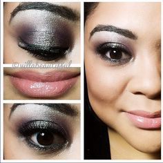 [#mymotdstyle 1-4] smokey metal grey purple shadow from the Coastal Scents Metal Mania Eye Shadow  Palette.  I added a little bit of ELF celebrity loses mineral shadow right in the  center of the lid. Find the right shadow where you can just use as a fast super smokey eye. You always don't need to have 3-4 colors to make a great look! Lips - Revlon Lip Butters Pink Truffle and Sugar Plum #fashionstudy #dignifiedfashion #cosmetics #revlon #makeuplooks #motd  - @villabeautifful- #webstagram