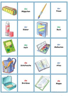 Games in German lessons: Memory - die Schulsachen - lessons . - Games in German lessons: Memory – the school supplies – lesson supp - German Grammar, German Words, German Resources, Deutsch Language, Best Educational Apps, Reading For Beginners, Apps For Teachers, German Language Learning, Learn German