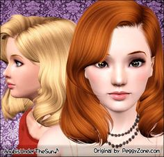 Peggy Hair 857 ~ Retextured for Teen-to-Elder << Anubis Under The Sun | Les Sims 3 | Scoop.it