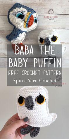 Baba the Baby Puffin Free Crochet Pattern - Spin a Yarn Crochet