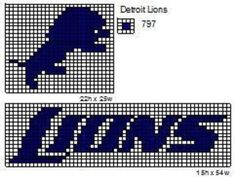 detroit lions crochet pattern | These are the NFL logo and name plate patterns that I use to make ...