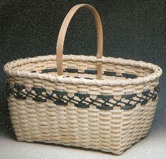*Cross Stitch Market Basket - Diane Stanton - BasketWeavingSupplies.com - Product Catalog