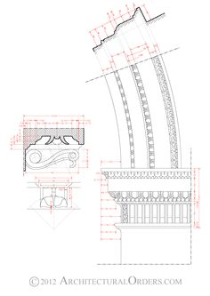 Corinthian Order: modillion and arch impost details
