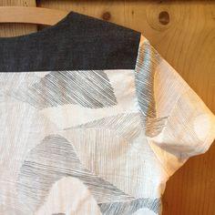 Merchant & Mills The Camber Set in Nani Iro for Kokka Mountain  Views - contrast shoulder