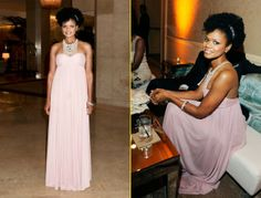Fro Spotting: Solange's Red Carpet Glamour, Chrisette Michele's Tats + Kimberly Elise's Romantic Pinup