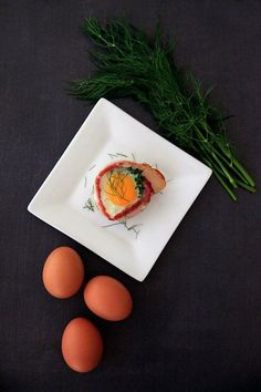 Bacon and egg cups w