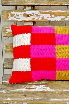 wood & wool pillow by wood & wool stool, via Flickr