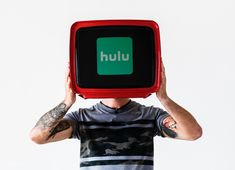 A retro television showing Hulu logo | free image by rawpixel.com