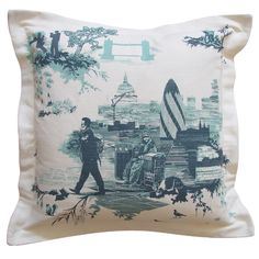 Blue london toile by the timorous beasties more blue london toile