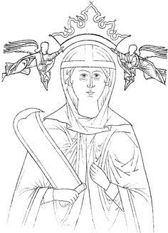 Иконы. Святые Древней Руси.  Прориси (295фото)