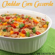Cheddar Corn Casserole #10minutewow