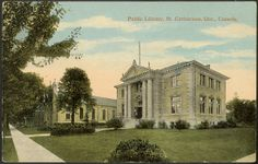 St.Catharines Carnegie Public Library | St.Catharines Heritage (stcatharinesheritage.com)  The Carnegie library was one of 125 built in Canada with funding from the Carnegie Foundation.  The library remained in use until 1977 when the Centennial Library was opened.  55 Church Street Built: 1905 Demolished: 1977 Architect: Sidney Rose Badgley