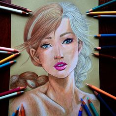 "Dada on Instagram: ""Story of two sisters #frozen #anna #elsa #letitgo #fanart #draw #drawing #sketch #doodle #sketchbook #sketchartgallery #gallery…"""