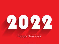 Free New Year Red Background 2022