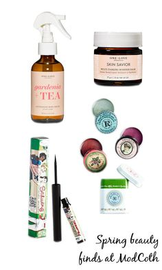 Fantastic spring beauty trends now at ModCloth! Favorites from theBalm, One Love Organics and Rosebud Perfume Company Inc. I LOVE these!