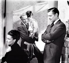 Vivien Leigh, Leslie Howard & Clark Gable in Gone With The Wind, 1939.