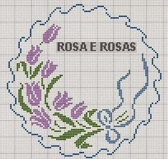 This Pin was discovered by nur Just Cross Stitch, Cross Stitch Heart, Cross Stitch Borders, Cross Stitch Flowers, Cross Stitch Designs, Cross Stitching, Cross Stitch Embroidery, Embroidery Patterns, Hand Embroidery