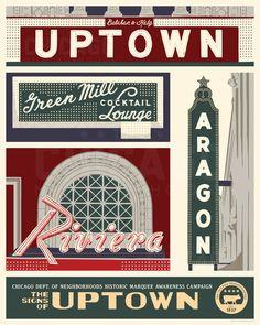 Uptown Chicago Neighborhood WPA-Inspired by ChicagoNeighborhoods