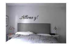 Allons-y door decal wall art doctor who by LittleBlueBoxDesigns