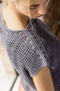 Ravelry: Bohemian Tee pattern by Erica Schlueter - Crochet - Roupa - Sweaters Débardeurs Au Crochet, Crochet Jumper, Crochet Woman, Tunisian Crochet, Crochet Cardigan, Easy Crochet, Crochet Summer Tops, Crochet Tops, Ravelry