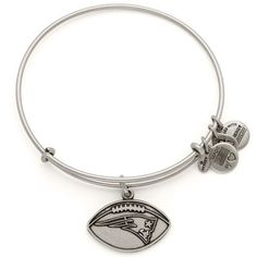 Alex and Ani New England Patriots Women's Rafaelian Silver Finish Bracelet