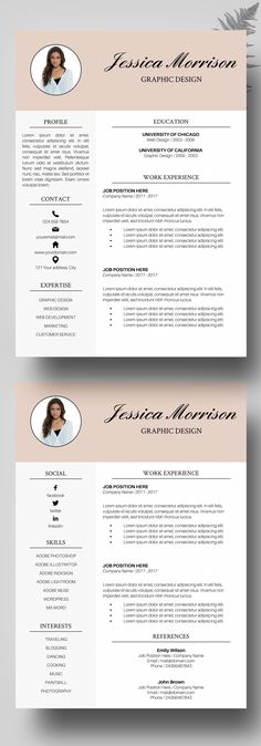 Professional  Modern Resume Template for MS Word \u201cMariah\u201d Modern