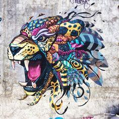 """""""BALAM"""" #streetart par Farid Rueda"""