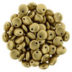 275-06-K0171 Lentils 6mm : Matte Metallic Flax
