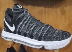 newest 3bea8 e4a13 Nike KD 10 Oreo Release Date. The Oreo Nike KD 10 features a Black and  White Nike Flyknit upper that sits atop a White midsole and full-length  Zoom Air.