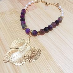 Collar ágatas y perlas by Luz Marina Valero