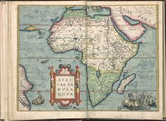 1571 Africa Map by Abraham Ortelius