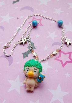Handmade Beelzebub necklace with Beel polymer clay by Akindoonline