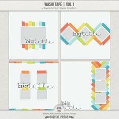 Washi Tape (Volume 1) | Templates