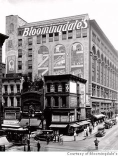 In 1872, the Bloomingdale brothers opened their first store at 938 Third Avenue, New York City.