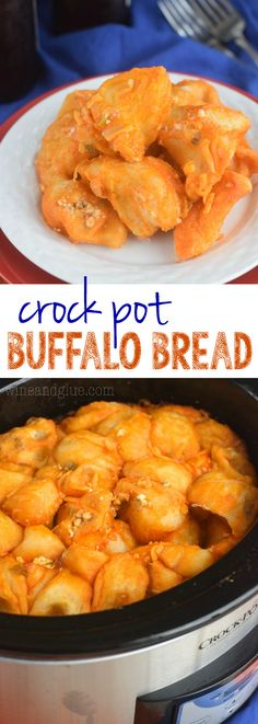 This Crock Pot Buffalo Bread is pretty much as simple and delicious as it gets! (Cheese Muffins Monkey Bread)