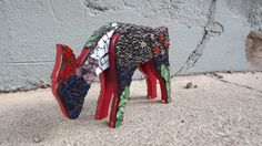 Mosaic Deer by PiecesofhomeMosaics on Etsy, $67.00
