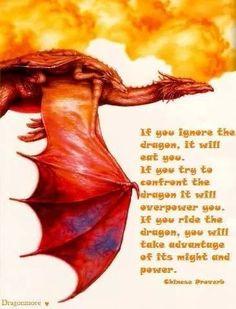 Ride the dragon - Chinese proverb Dragon Armor, Dragon Rider, Animal Spirit Guides, Spirit Animal, Magical Creatures, Fantasy Creatures, Fantasy Dragon, Fantasy Art, Dragon Quotes
