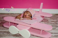 NEWBORN AIRPLANE Photography PROP  Wooden by CreativeWorkshopProp, $80.00