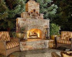 backyard fireplace ideas outdoor fireplace backyard fireplace designs and ideas backyard patio fireplace ideas Rustic Outdoor Fireplaces, Outdoor Fireplace Plans, Outside Fireplace, Outdoor Fireplace Designs, Backyard Fireplace, Custom Fireplace, Brick Fireplace, Fireplace Ideas, Fireplace Shelves
