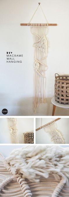 How to make this DIY Modern Macrame Wall hanging | TOMFO