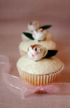 Cupcakes for a photograph