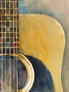 "Rifkin ""ACEO"" Martin Acoustic Guitar 1"" Digital Art Card"