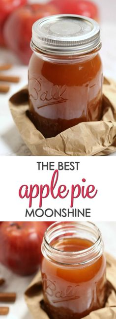 This is the best Apple Pie Moonshine recipe. Made with apple cider and Everclear grain alcohol, it packs a punch but still it's smooth and bursting with apple cinnamon flavor. Homemade Alcohol, Homemade Liquor, Homemade Whiskey, Homemade Apple Cider, Apple Pie Drink, Apple Pie Liquor Recipe, Apple Pie Shots, Caramel Apple Pie Moonshine Recipe, Apple Liqueur Recipe