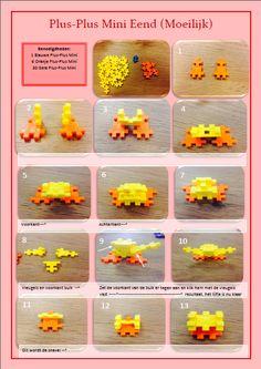 Stappenplan voor Eend van Plus-Plus. Plus-Plus®, speelgoed voor eindeloos bouwplezier