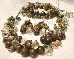 Red Snowflake Obsidian Set from juta ehted - my jewelry shop by DaWanda.com